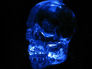 CRYSTAL-HEAD-SKULL-VODKA-COLLECTIBLE-BOTTLE-LIGHT-STAND
