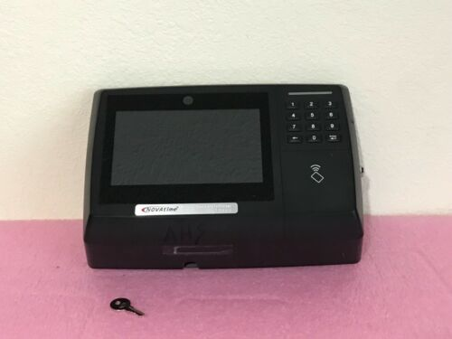 NovaTime NT7000 card reader time clock with key