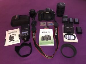 Caméra 7D et kit complet. Excellente condition   800$