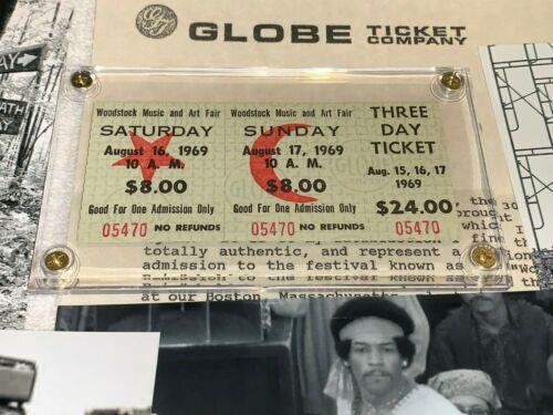 WOODSTOCK AUTHENTIC 2 DAY 1969 TICKETS MUSIC Jimi Hendrix Grateful Dead CSNY TYA