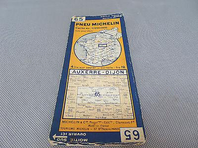 Card Michelin No 65 Auxerre-Dijon 1932/Collector Bibendum Vintage