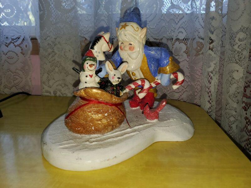 2001 Retired House of Hatten Denise Calla-Celestial Songs Santa Elf Bag of Toys