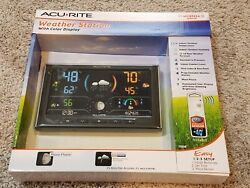 ACURITE DIGITAL WEATHER STATION COLOR DISPLAY WIRELESS OUTDOOR SENSOR 75108