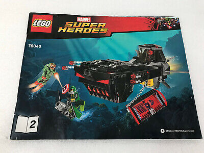 LEGO Marvel 76048 Avengers Iron Skull Sub Attack MANUAL ONLY