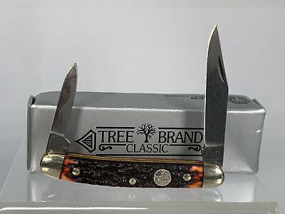 Vintage H. BOKER TREE BRAND 8288 Jigged Pen Knife MINT in Box