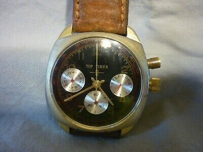 VINTAGE 1970'S TOP TIMER  SINGLE PUSHER CHRONOGRAPH  MEN'S WATCH