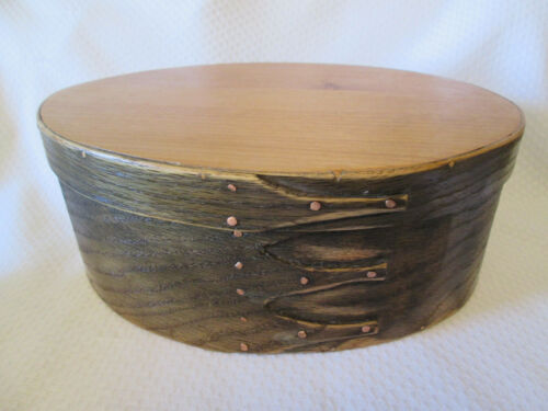 Vintage Fingered Bentwood Oval Box Decorative Pantry Box Storage