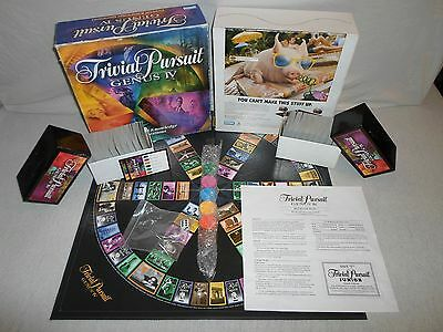 Complete   Trivial Pursuit Genus Iv Board Game Master 4 Trivia Card Question Q A