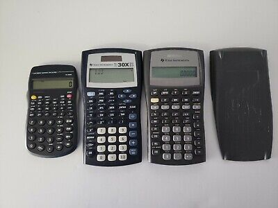 Lot Of 3 Calculators Texas instruments  Ti 30x IIS Ba ii Plus