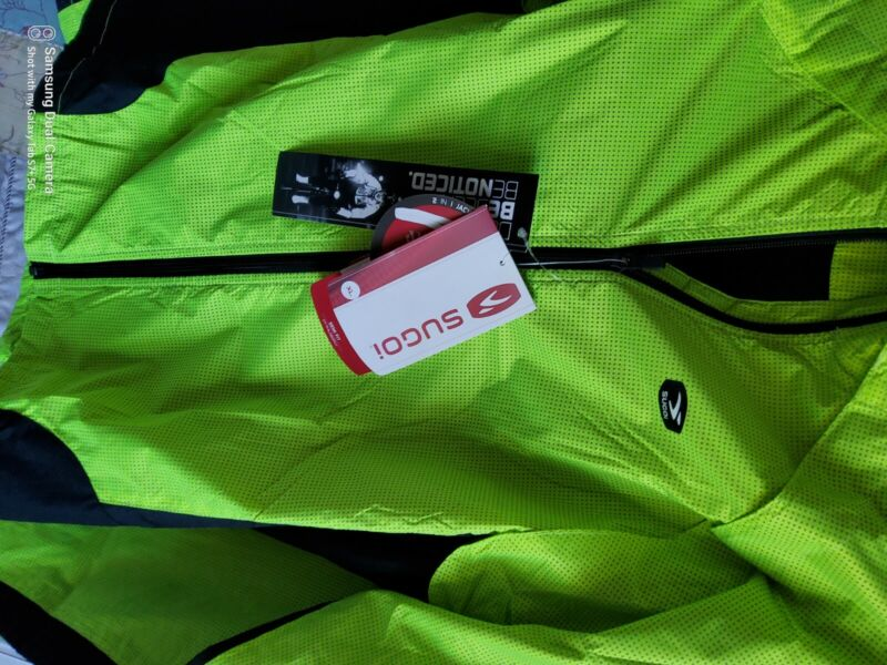 """sugoi mens jacket hi vis yellow new with tags XL 42 - 44""""chest"""