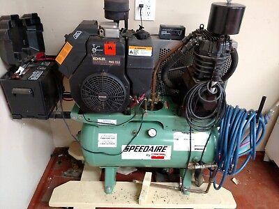 Commercial Kohler Twin Engine. Air Compressor Speedaire