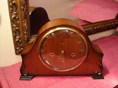 Magnificent Vintage English Deep Mahogany cased,Westminster Chiming,mantel clock