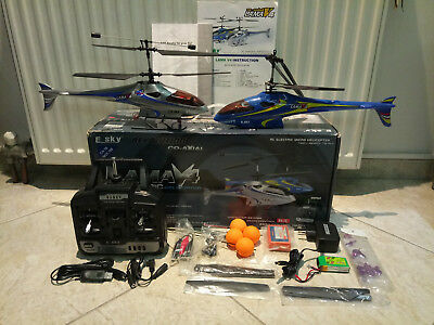 ESky Lama V4 RC Helicopter RTF + Extra + 2nd Heli Parts. Best begginer