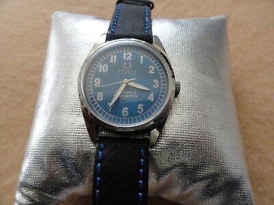 Titus 17 Jewels Para Shock Vintage Mechanical Wind Up Men's Watch