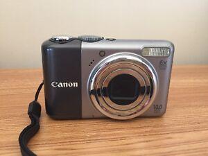 Caméra numérique Canon avec boitier et accessoires