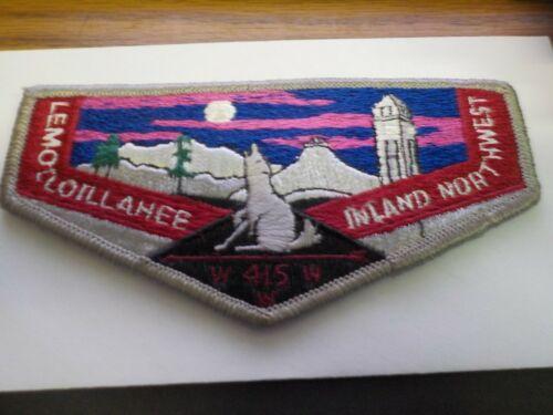A-Order of the Arrow:  Lemolloillahee Lodge 415, gray border, white letters