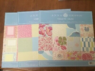 Anna Griffin Elsie Cardstock, Vellum, and Layout Pack Bundle Paper Set ()