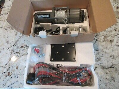 Heavy Duty Atvutv 4000-pounds Winch And Kit New In Box