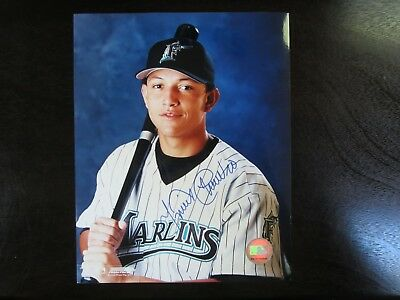 Miguel Cabrera Autograph / Signed 8 x 10 Photo Florida Marlins 2003 World Series 2003 World Series Autographed Photograph