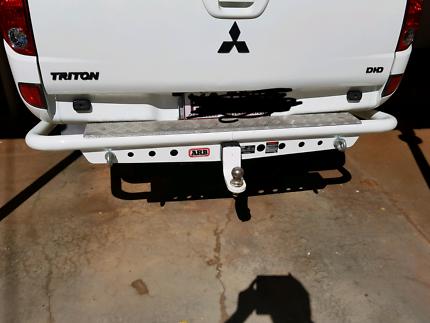 Triton tub, canopy, ARB towbar step