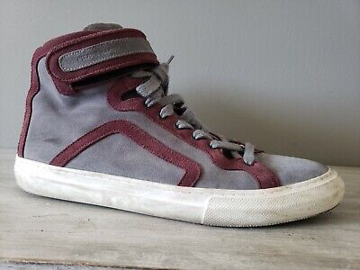 Pierre Hardy High Top Suede Sneakers Grey size: 43