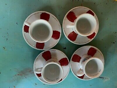 """2005 ILLY COLLECTION """"Sat. & Sun"""" Chuck Espresso Coffee Cup/Mugs - Italy - 3 Lot"""