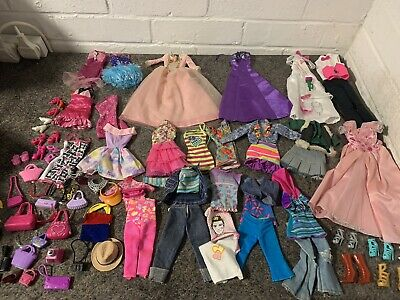 Barbie Doll Large Clothing And Accessories Bundle