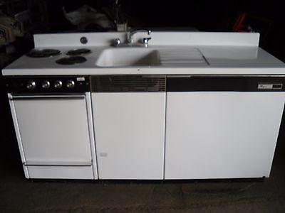 Dwyer Vintage kitchen kitchenette Stove Sink refrigerator porcelain