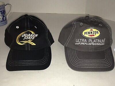 Used, MEN'S PENNZOIL ULTRA PLATINUM GRAY & QUAKER STATE BLACK BASEBALL CAP NWOT for sale  Houston
