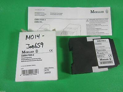 Eaton Moeller -- Emr4-f500-2 Emr4f5002 Phase Sequence Monitoring Relay New