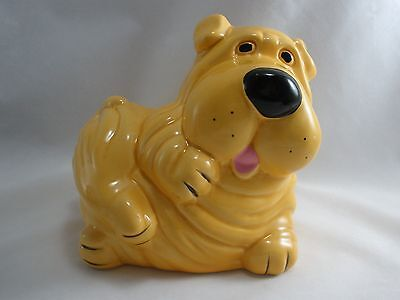 Chinese Shar Pei Dog Bank Figurine