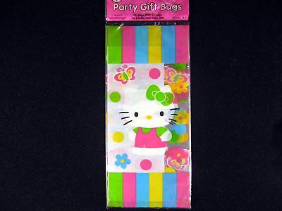 8 HELLO KITTY Cellophane Treat Sacks Gift Bags Party Supplies Favors Twist Ties - Hello Kitty Halloween Party Supplies