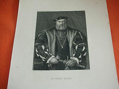 Mr. Hubert Morett Grafik Stahlstich Hans Holbein Schultheiss