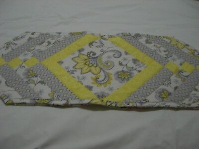 Yellow Table Runners (Spring Paisley Quilted Table Runner 13x35 inches)