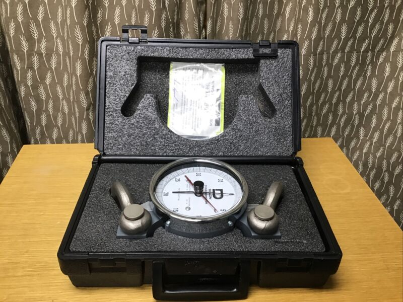 "Dillon AP Mechanical Dynamometer with Shackles, 5"" Dial, 4,000 kg x 25 kg"