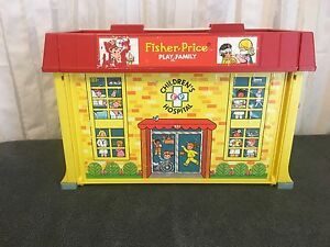vintage fisher price play family children's hospital