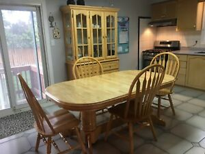 Kitchen table and matching hutch