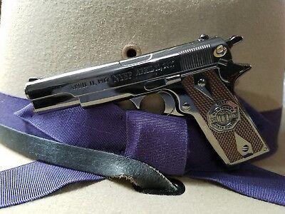 New York State Police 100th Anniversary M1911 Gun Challenge Coin BLACK NICKLE