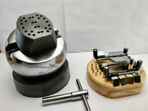 """NEW Standard Block 5"""" Ball Vice Engraving Setting Tool ( Engraving Block) wITH A"""