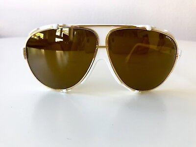 vintage UVEX SportStyle glacier sunglasses ski snow rare Germany 80s white gold