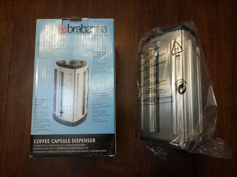 Brabantia Nespresso Coffee Capsule Table /Counter Dispenser Matte Steel  New