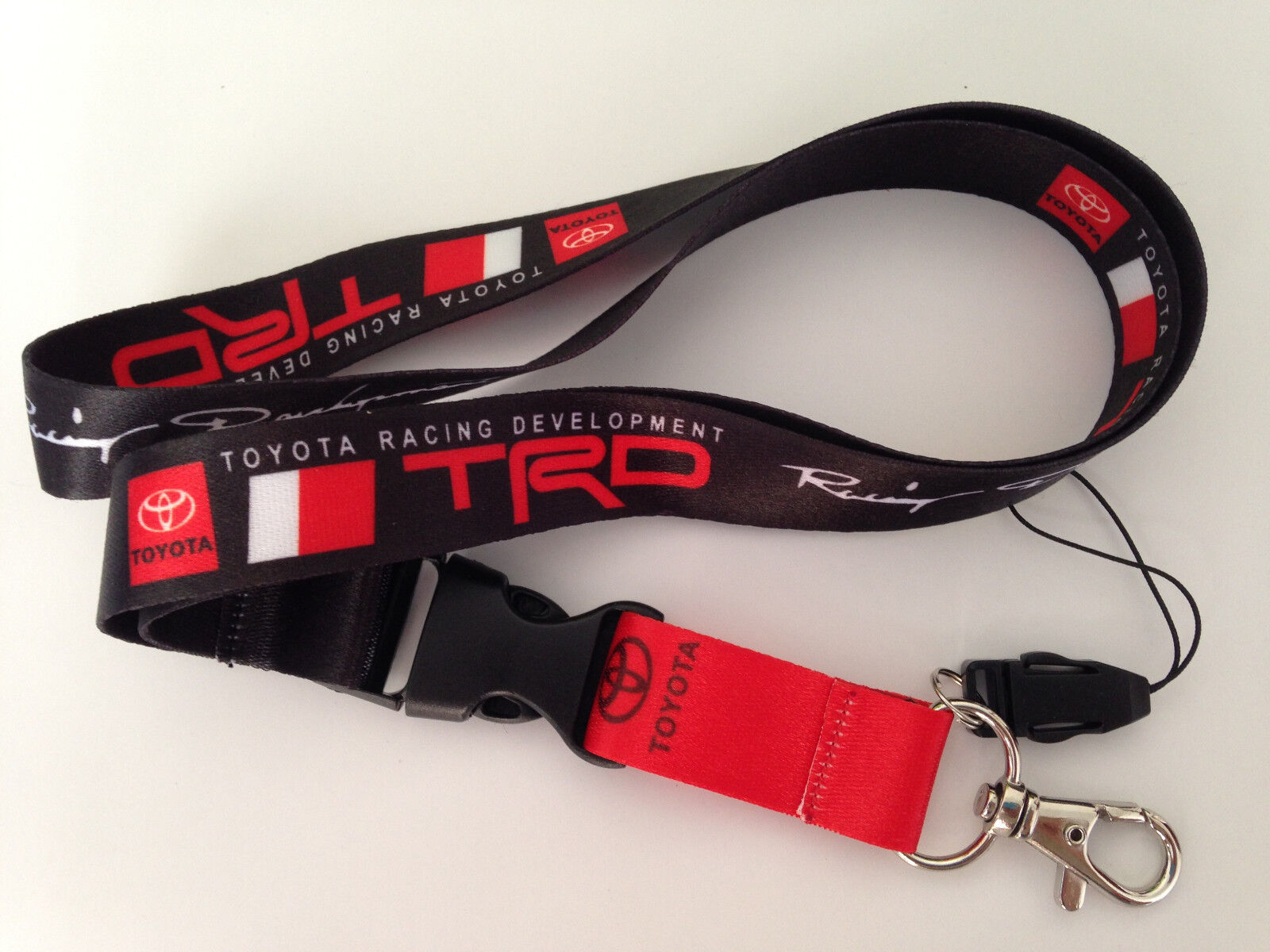 TOYOTA TRD JDM Lanyard Keychain Quick Release Thermal Transfer Printing 1062