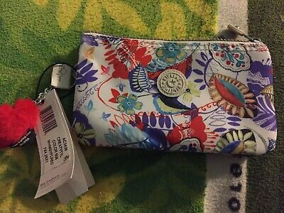 New With Tag Kipling Creativity WHMSYFLRED Pouch Wristlet Wallet Color 608