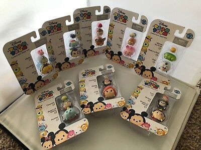 (8 DIFFERENT Tsum Tsum Disney LOT 3 PACK SERIES 2 figure toy mickey mouse doll)
