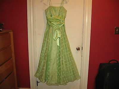 Masquerade Bridesmaid/Prom/Formal Occasion Dress-lime green-size 5/6-Poly (Masquerade Dresses Kids)