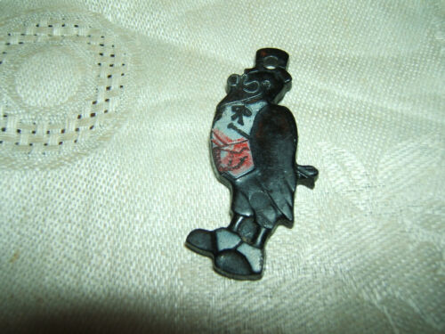 Vintage OLD CROW Kentucky Whiskey Rubber Plastic Keychain Key Chain