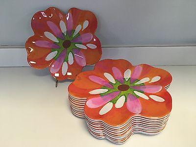 """Precidio """"Anna Maria"""" Melamine Floral Plates - Set of TWELVE (12)"""