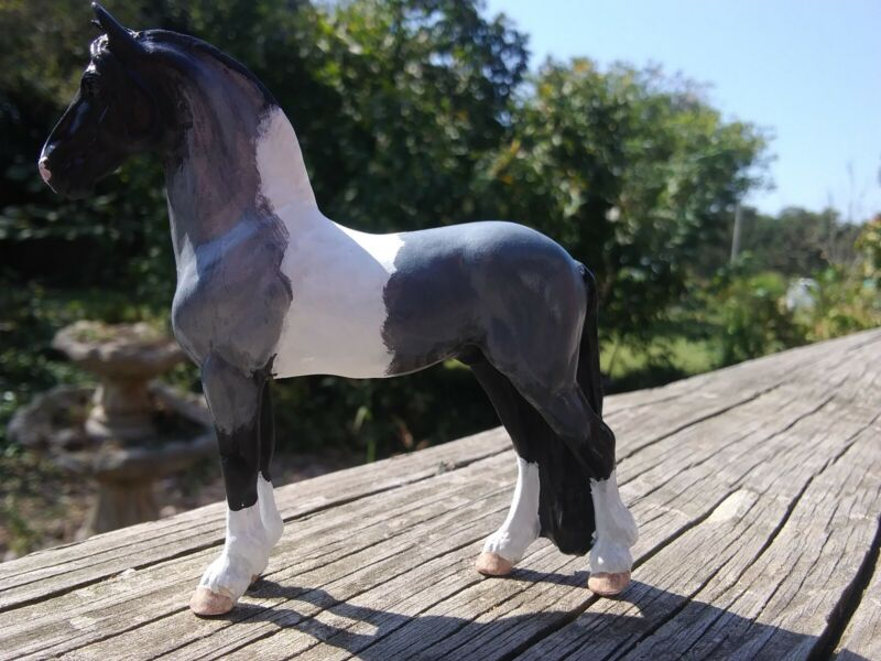 Custom SM Breyer Horse CM Django standing Friesian stallion draft drafter