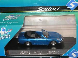 alpine renault a110 cabriolet solido 1 43 ebay. Black Bedroom Furniture Sets. Home Design Ideas
