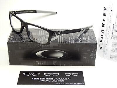 Oakley Currency Satin Black Grey RX Brille Metalink Fin Box Chamber Crosslink O3